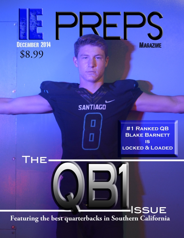 Featured on the cover is the University of Alabama bound and #1 high school quarterback in the nation Blake Barnett of Corona Santiago high school.