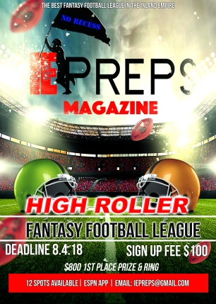 IE Preps High Roller Fantasy Football Flyer